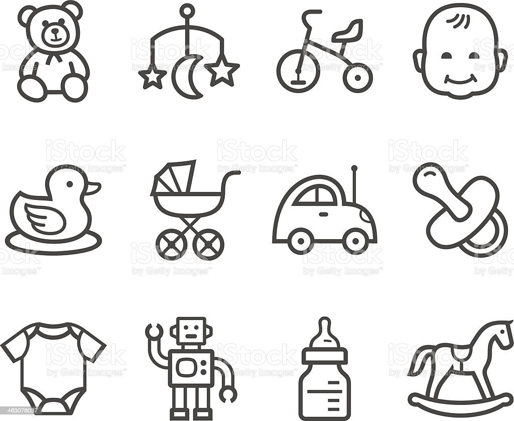 Baby icon vector art illustration