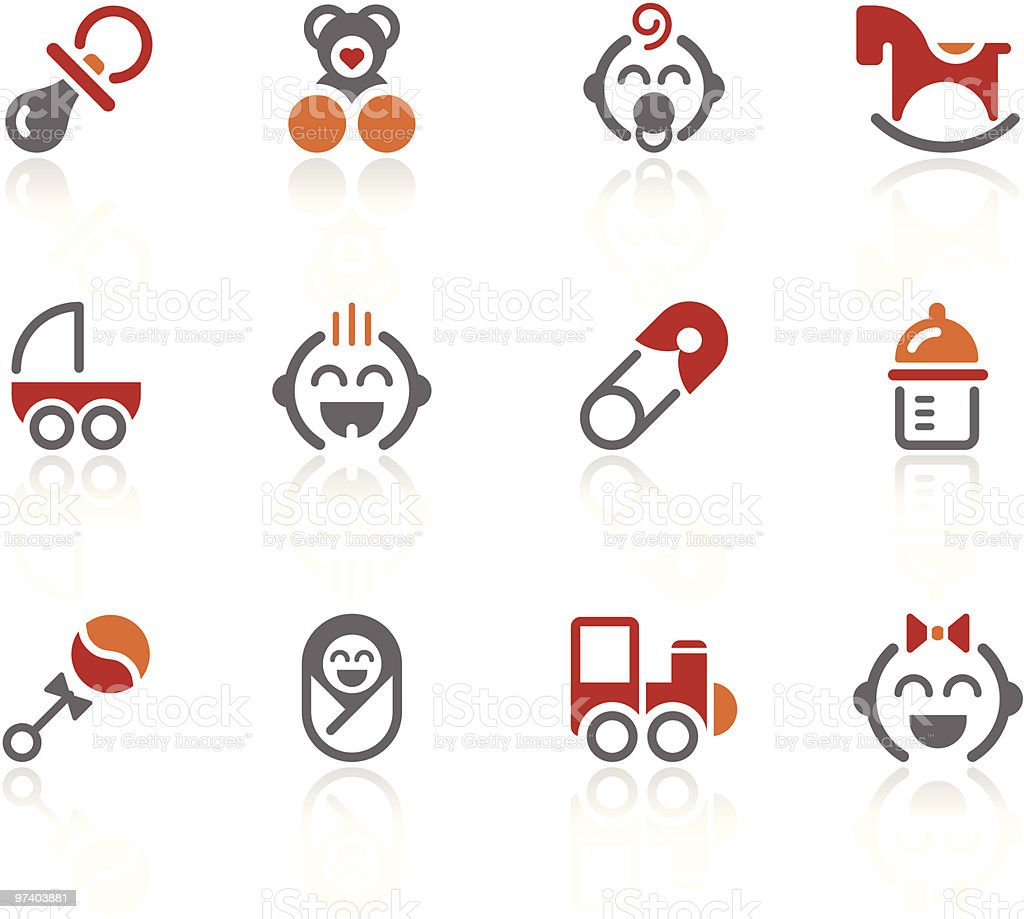 Baby icons | Alto series royalty-free stock vector art