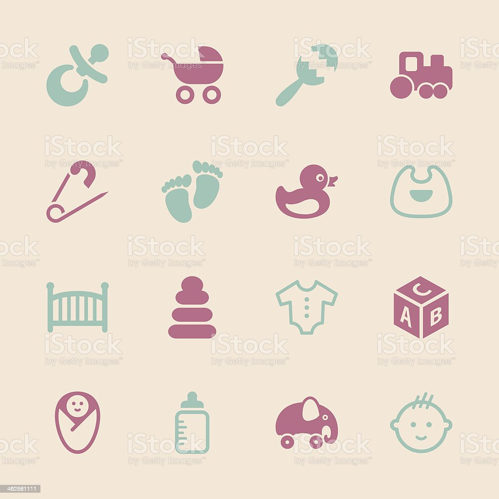 Baby Icons - Color Series vector art illustration