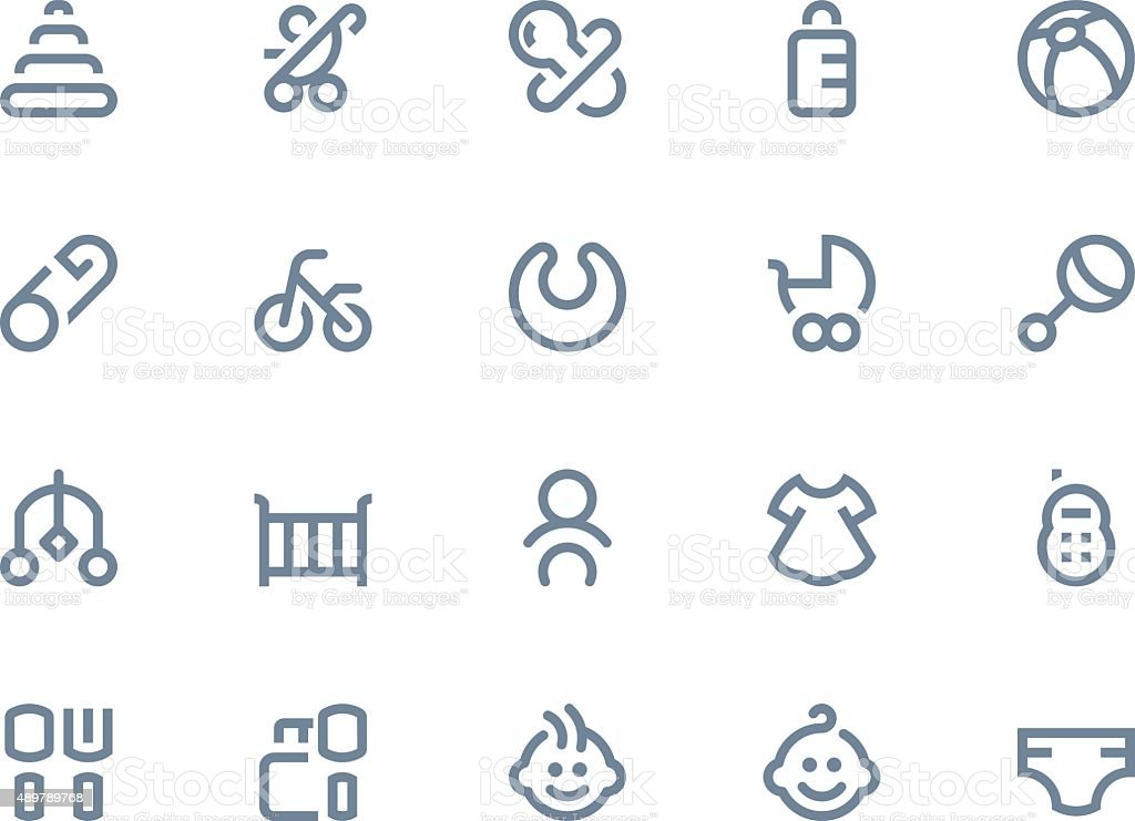 Baby icons Line series vector art illustration