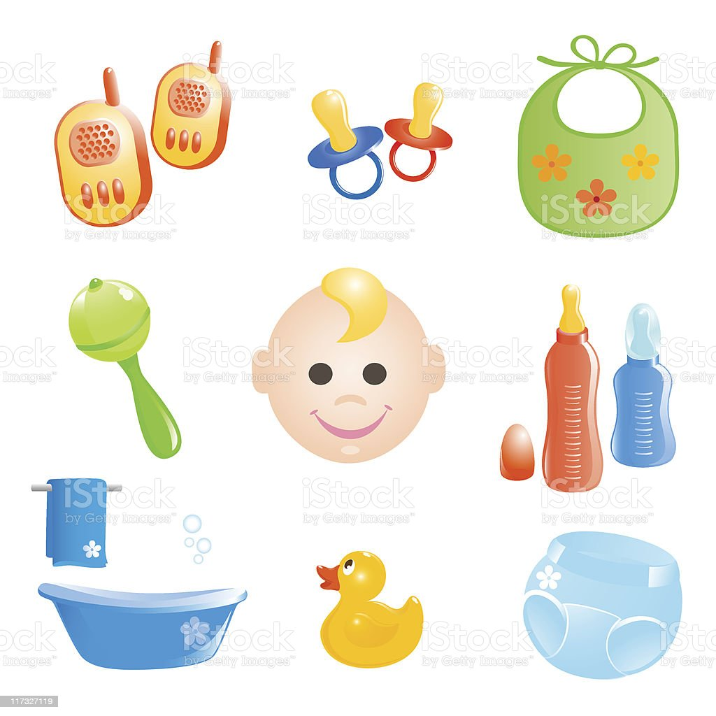 Baby icons set. royalty-free stock vector art