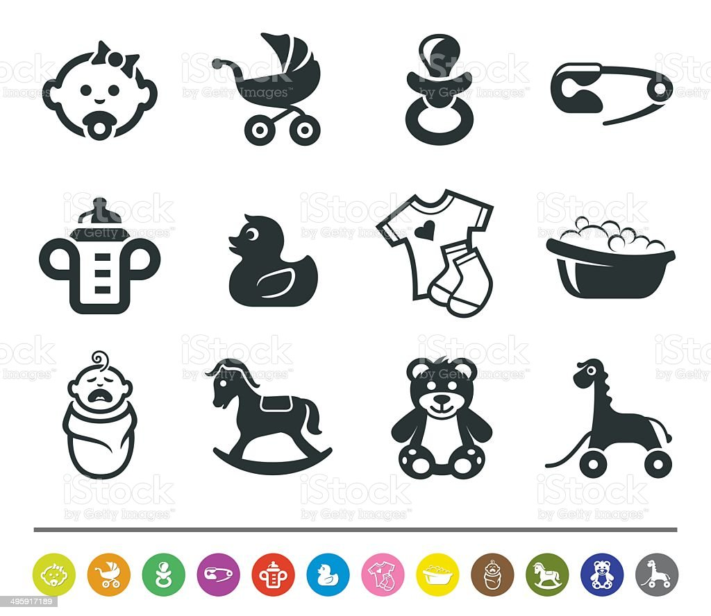 Baby icons | siprocon collection vector art illustration