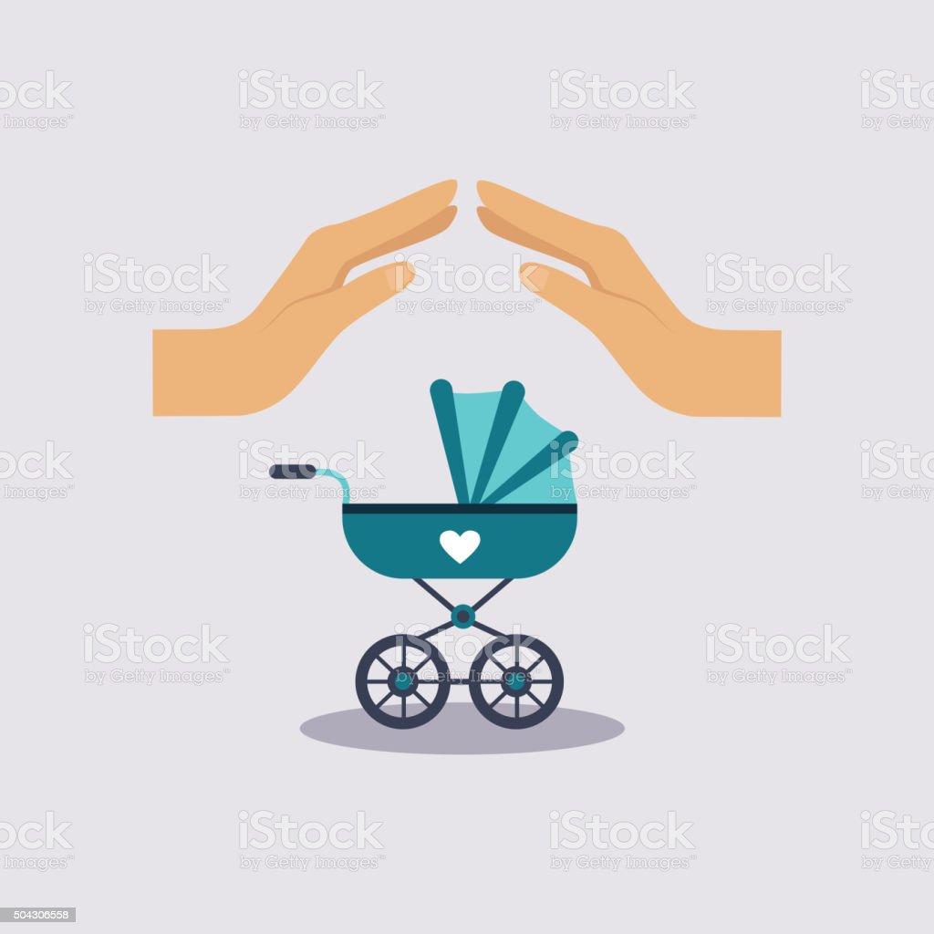 Baby Insurance Vector Illustartion vector art illustration