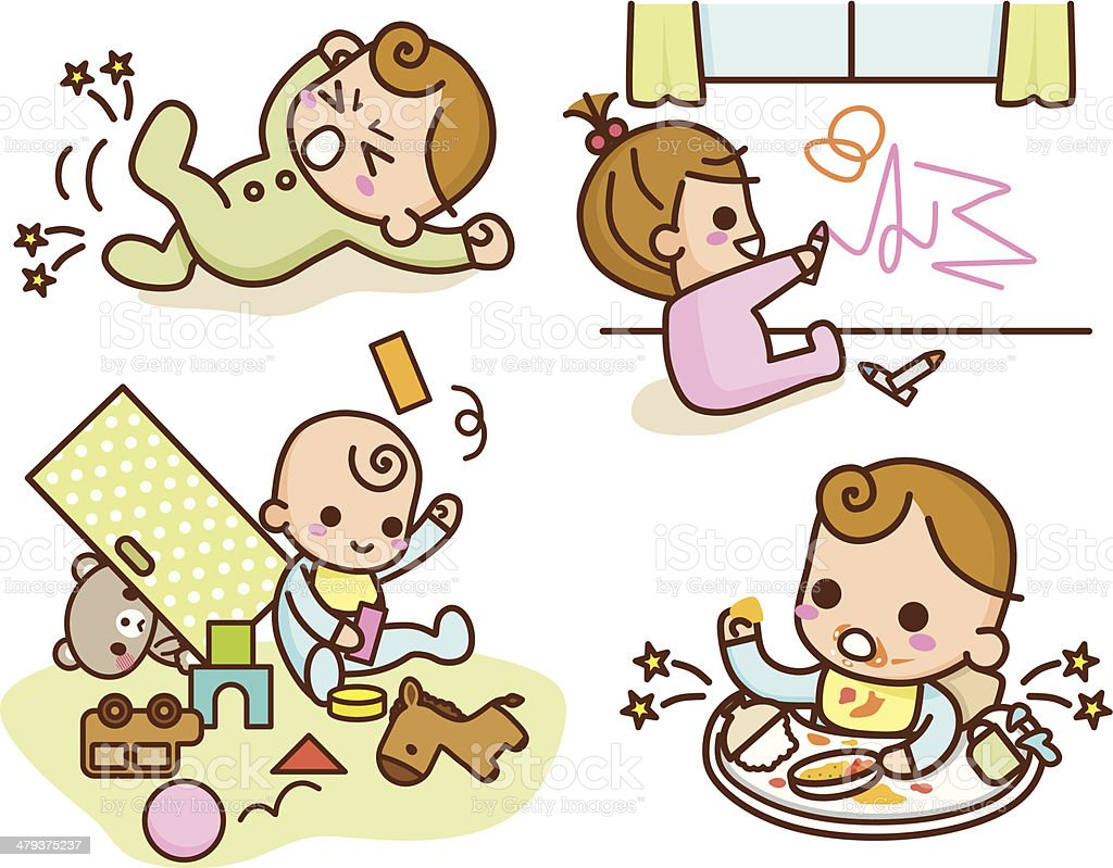 Baby lifestyle vector art illustration