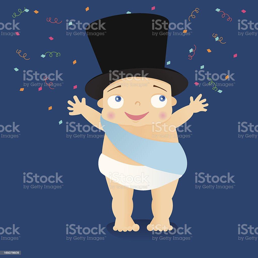 Baby New Year vector art illustration