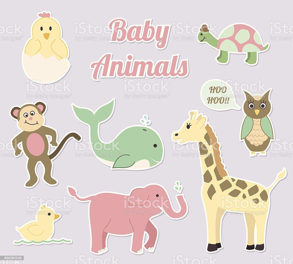 Baby Kinderzimmer Tiere Vektor Illustration 504291245   iStock