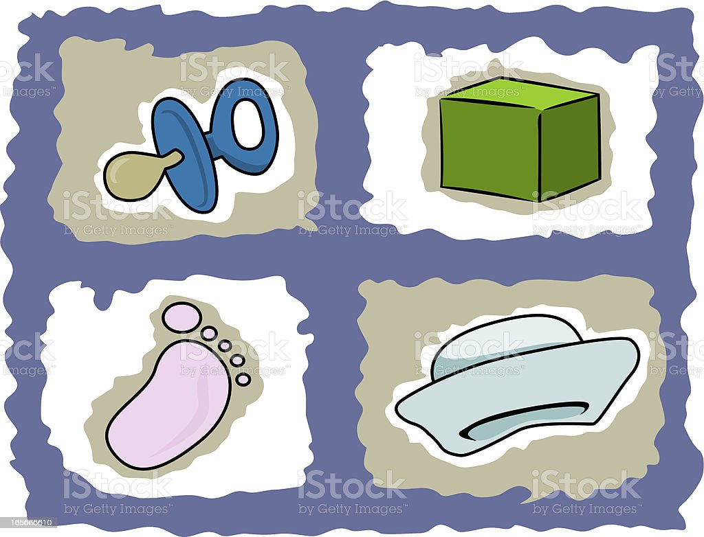 Baby objects royalty-free stock vector art