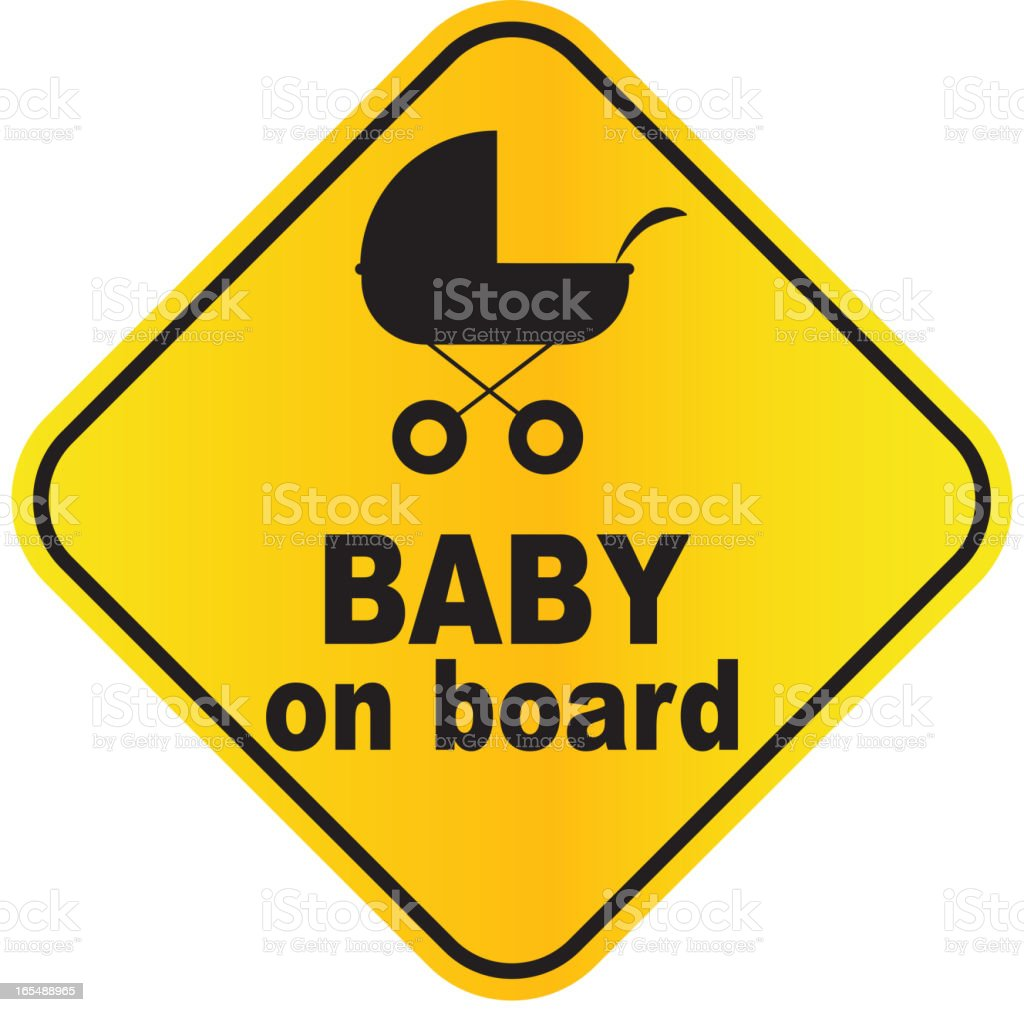 Baby on board sign vector illustration royalty-free stock vector art