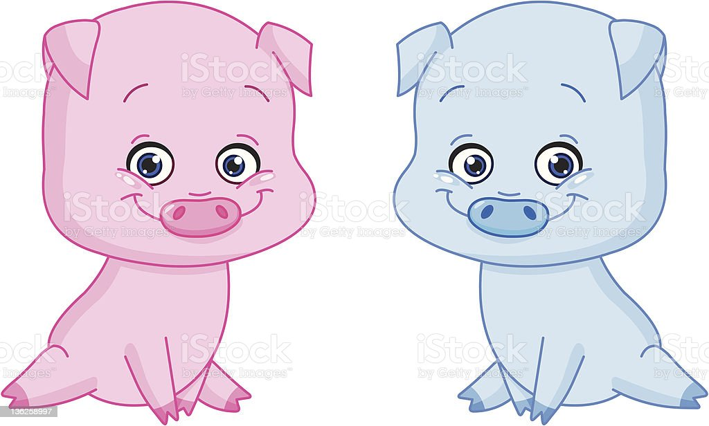 Baby pigs royalty-free stock vector art