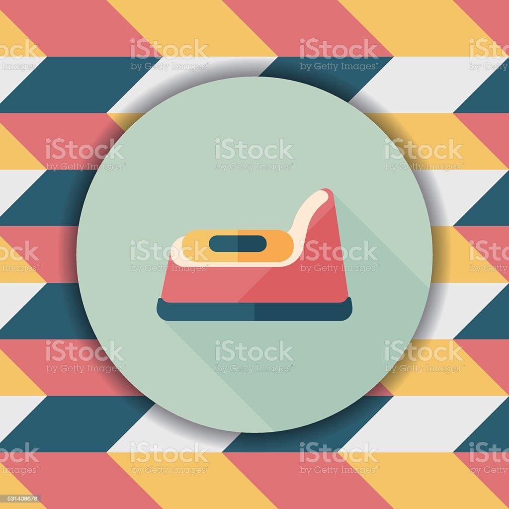 baby potty flat icon with long shadow,eps10 vector art illustration