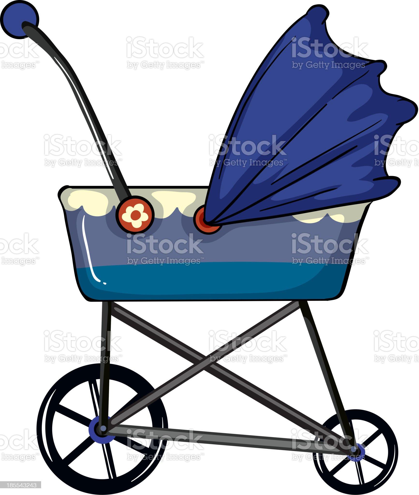 baby pram royalty-free stock vector art