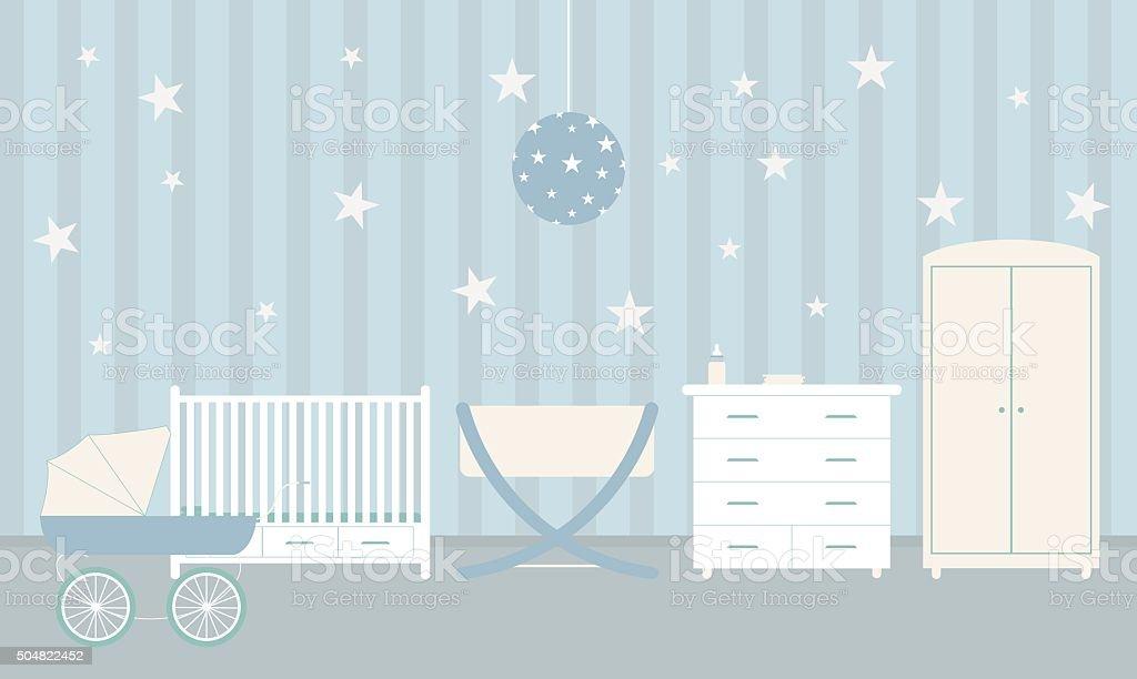 Baby room vector art illustration
