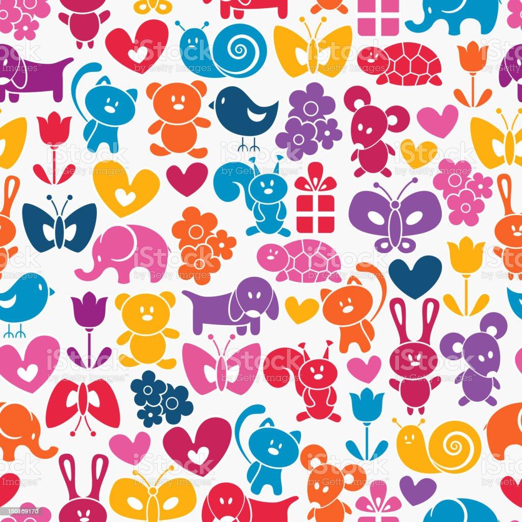 Baby seamless wallpaper royalty-free stock vector art
