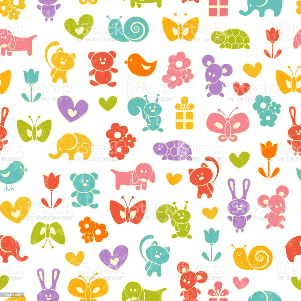 Baby seamless wallpaper royalty-free stock vector art