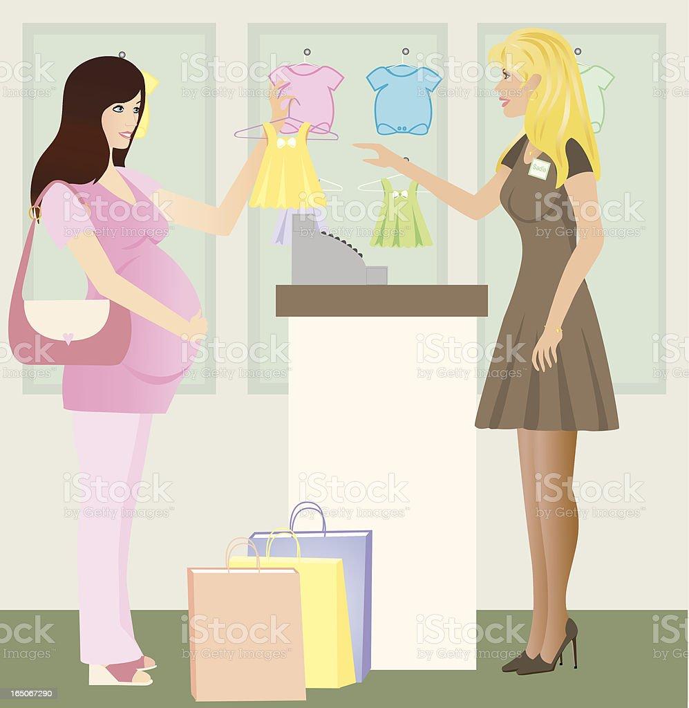 Baby Shopping vector art illustration