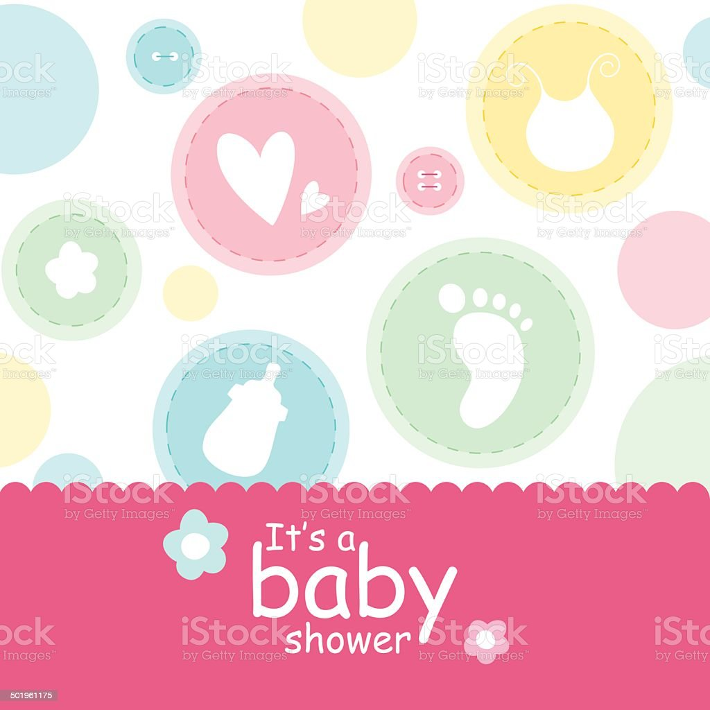 baby shower background royalty-free stock vector art