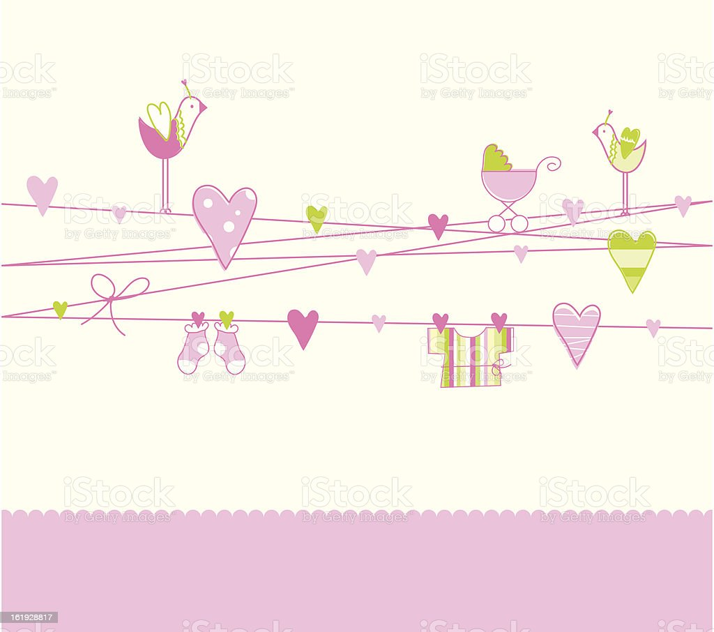 Baby shower card royalty-free stock vector art
