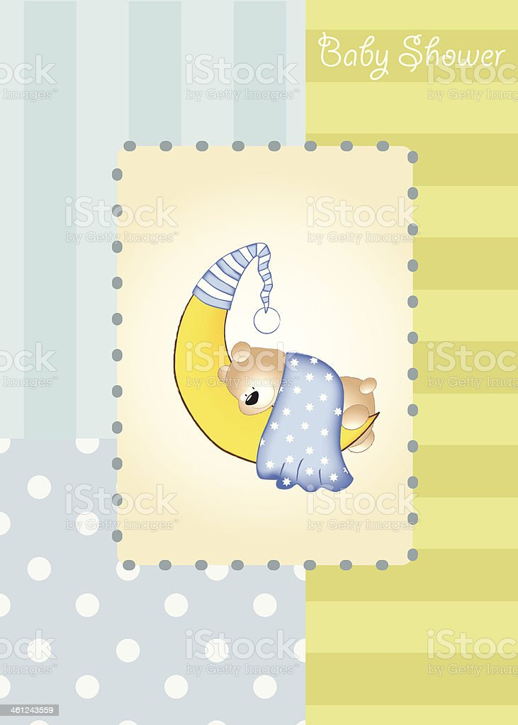 baby shower card vector art illustration