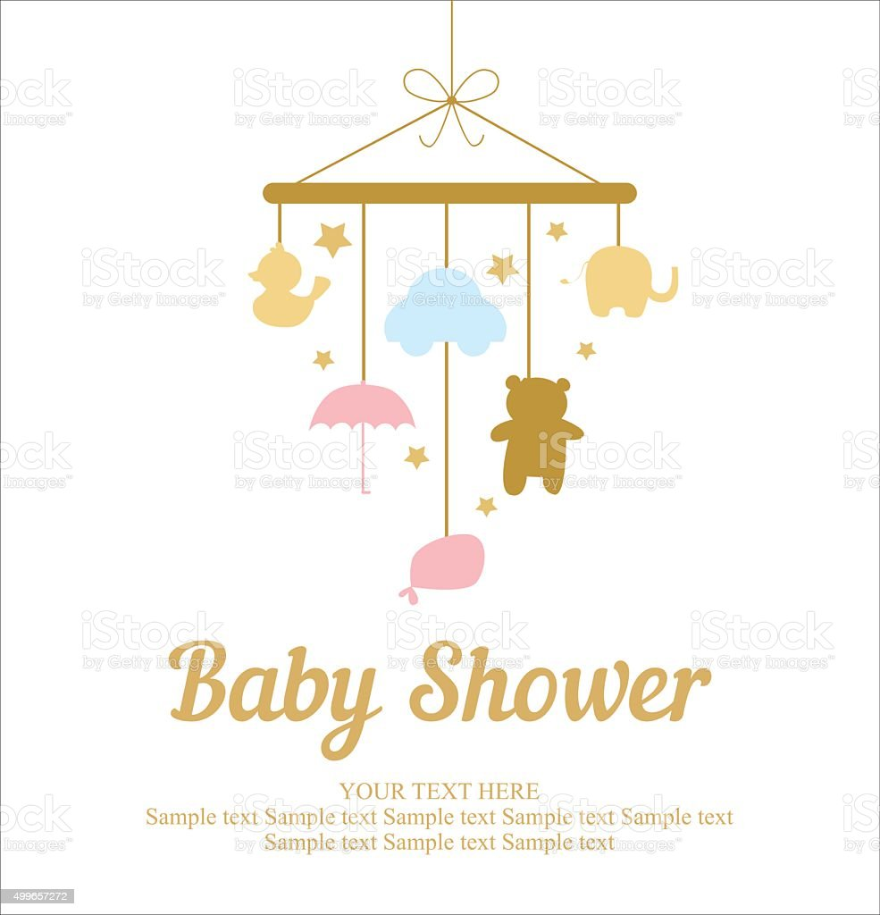 Baby Shower Card Vector ~ Baby shower card stock vector art istock