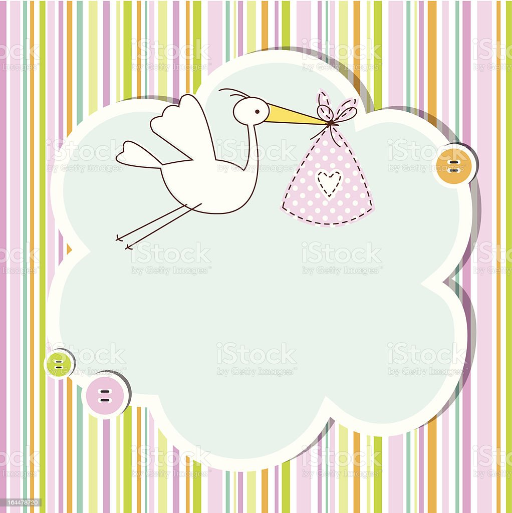 Baby shower card with copy space royalty-free stock vector art