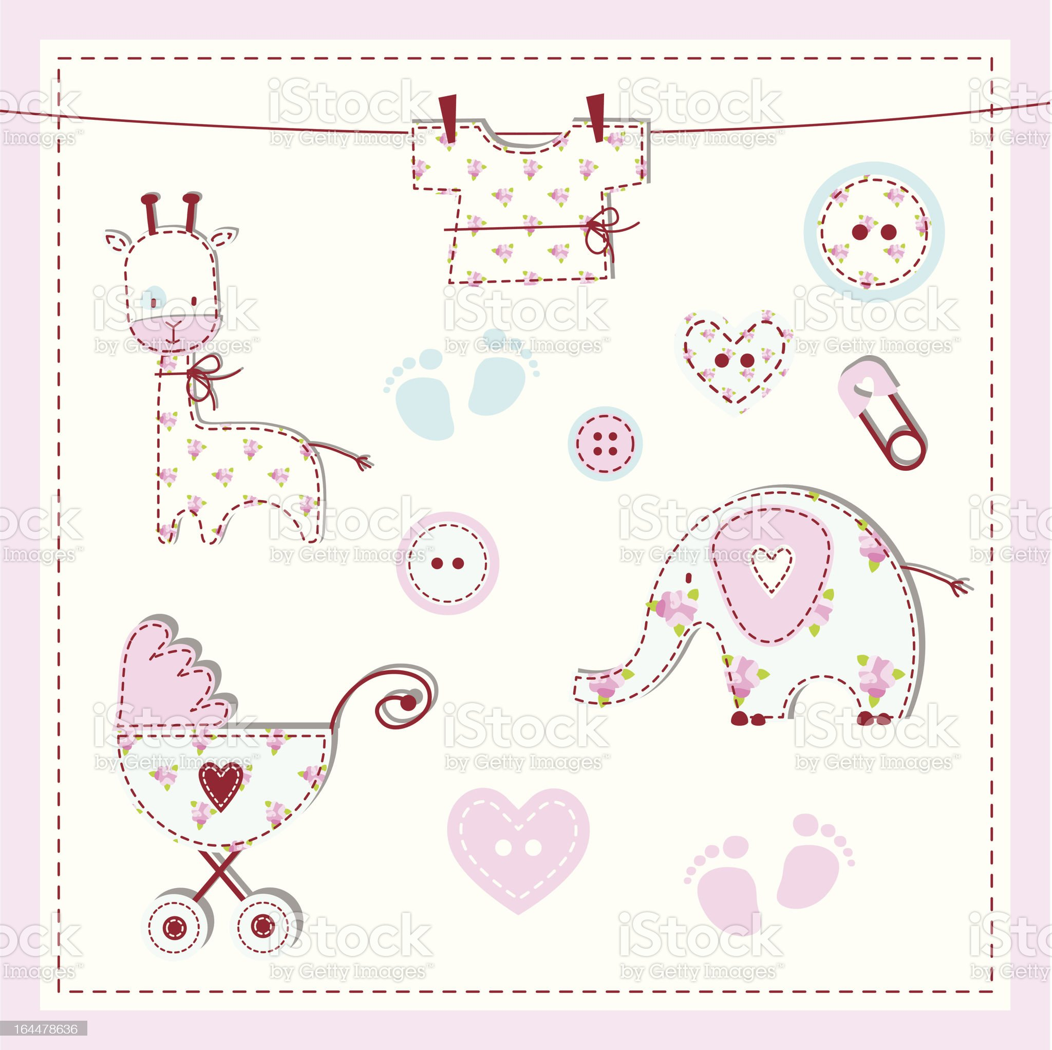 Baby shower design elements royalty-free stock vector art