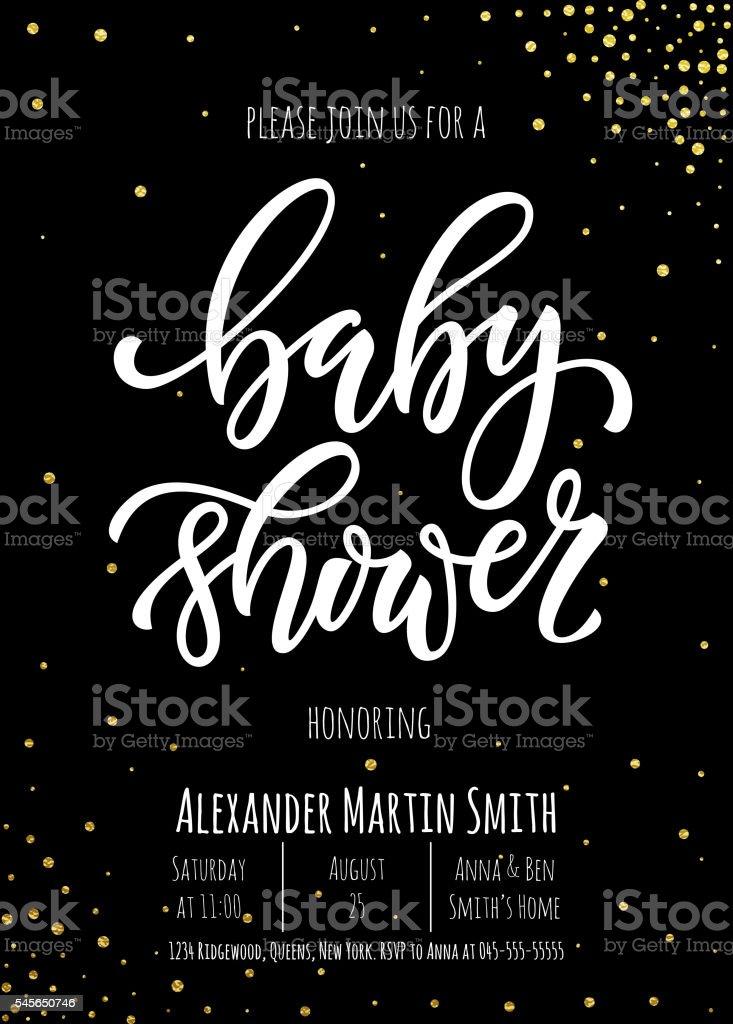 Baby Shower invitation card template. vector art illustration