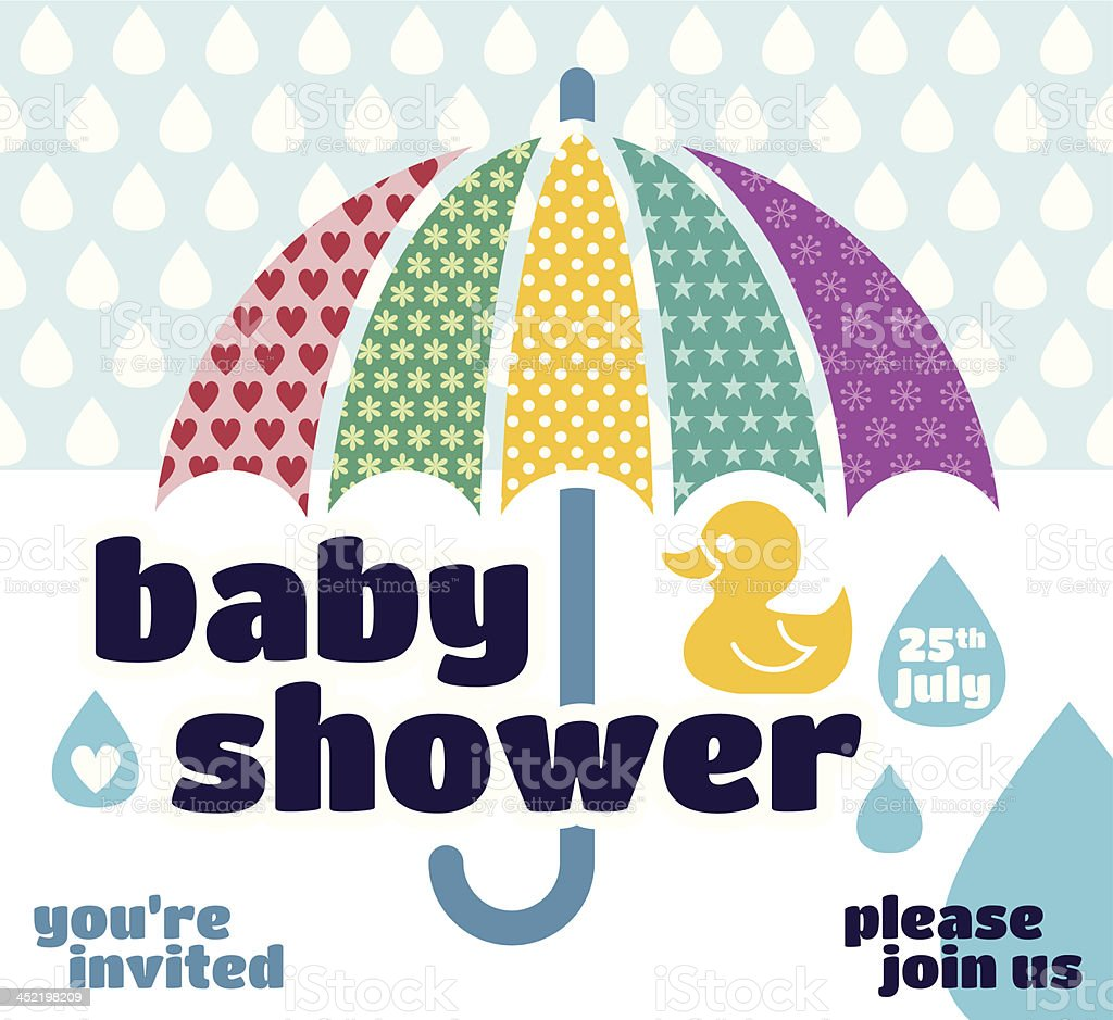 Baby shower invitation royalty-free stock vector art