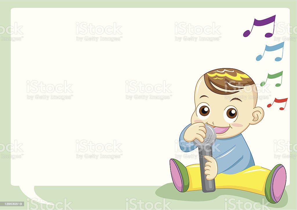 baby singing royalty-free stock vector art