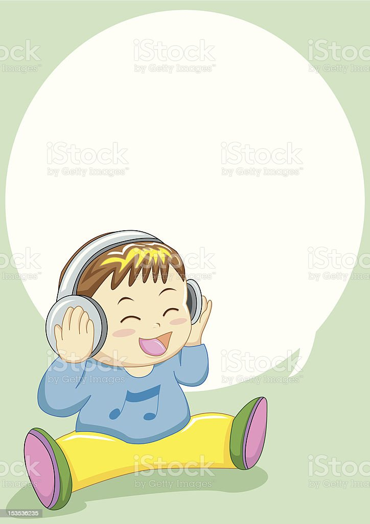 baby singing royalty-free stock vector art