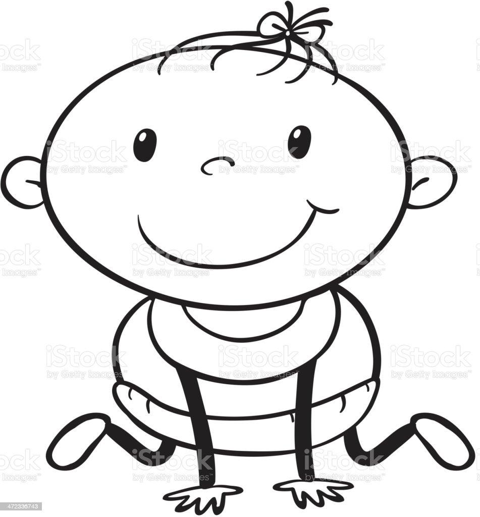 Baby sketch royalty-free stock vector art