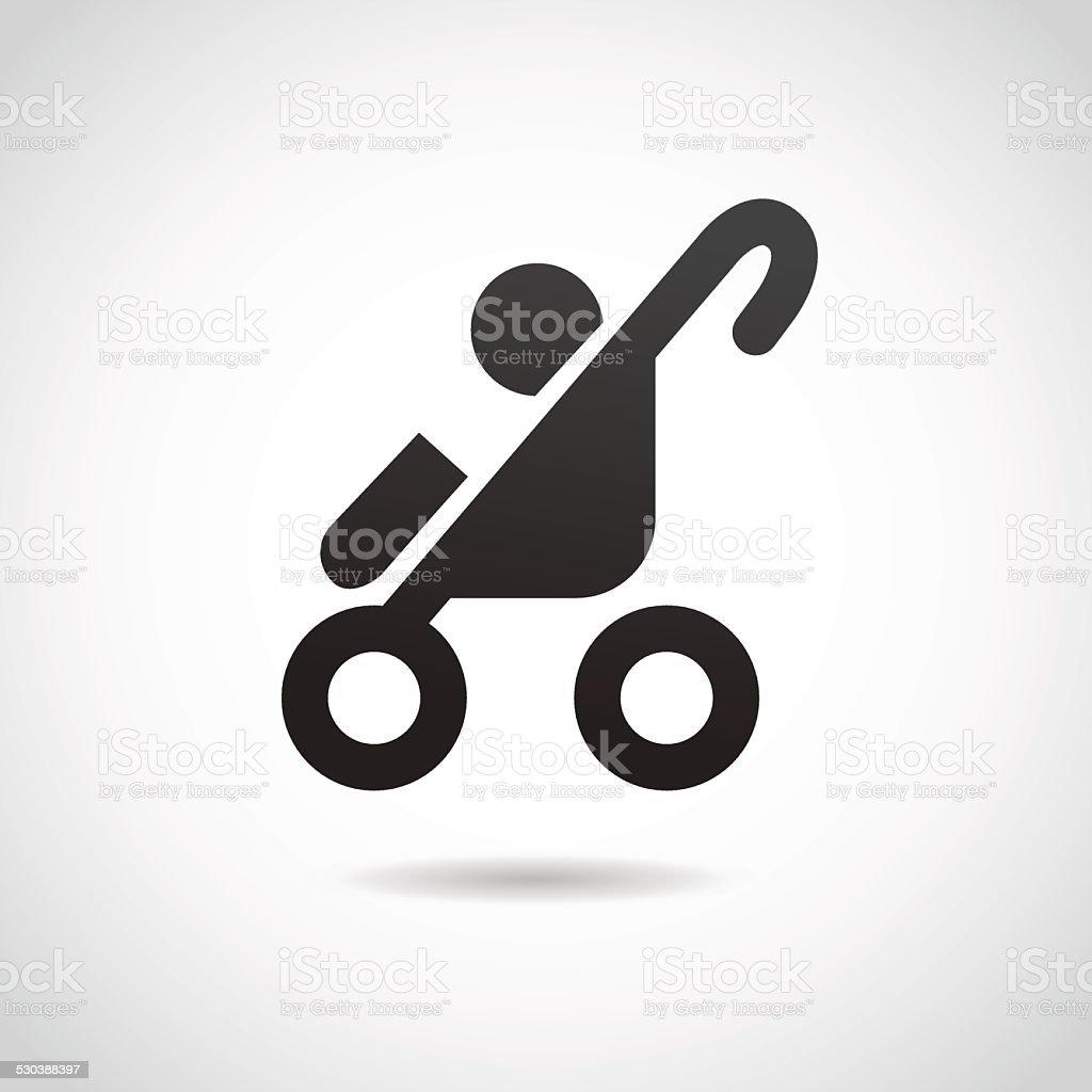 Baby stroller icon. vector art illustration