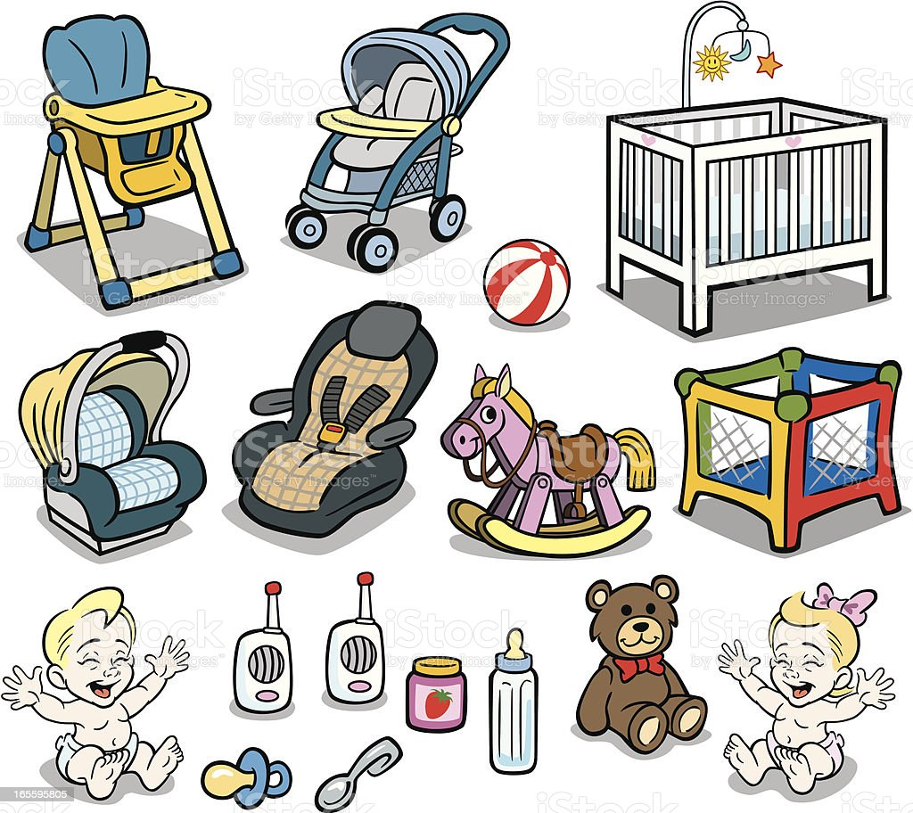 Baby Stuff vector art illustration