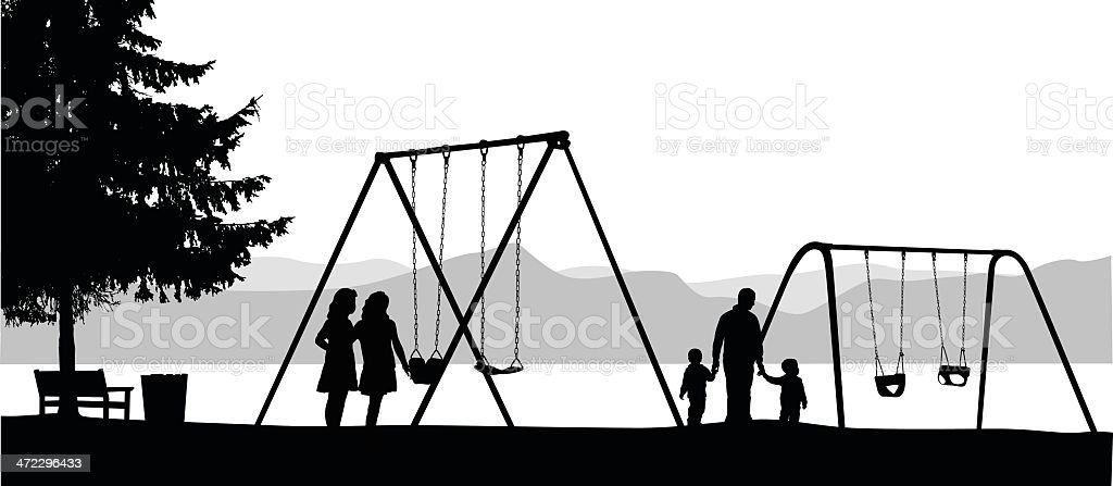 Baby Swings Vector Silhouette royalty-free stock vector art