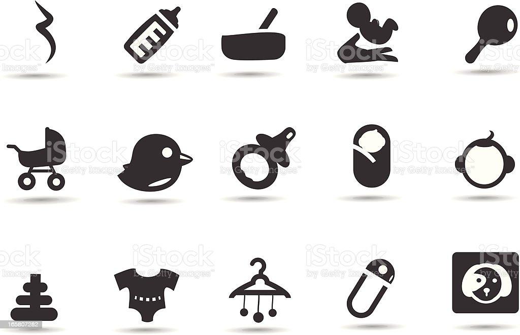 Baby Symbols vector art illustration