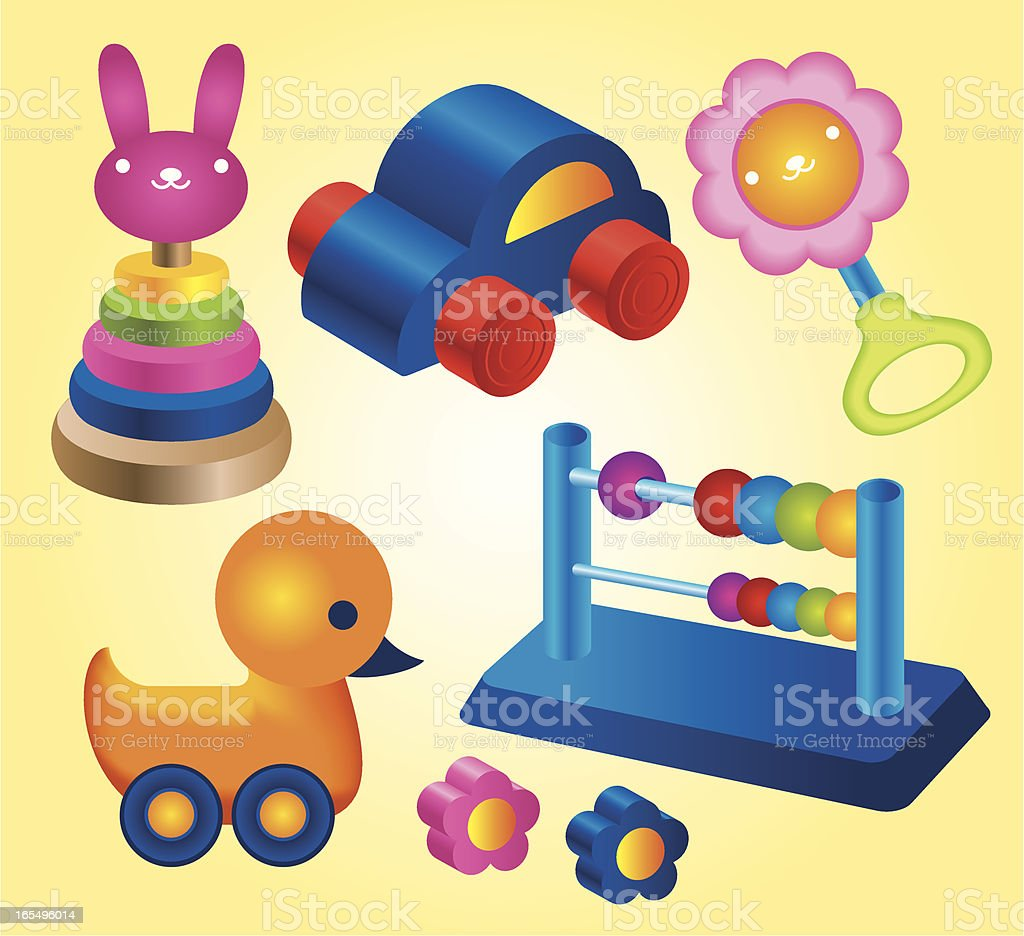 Baby toys Collection vector art illustration