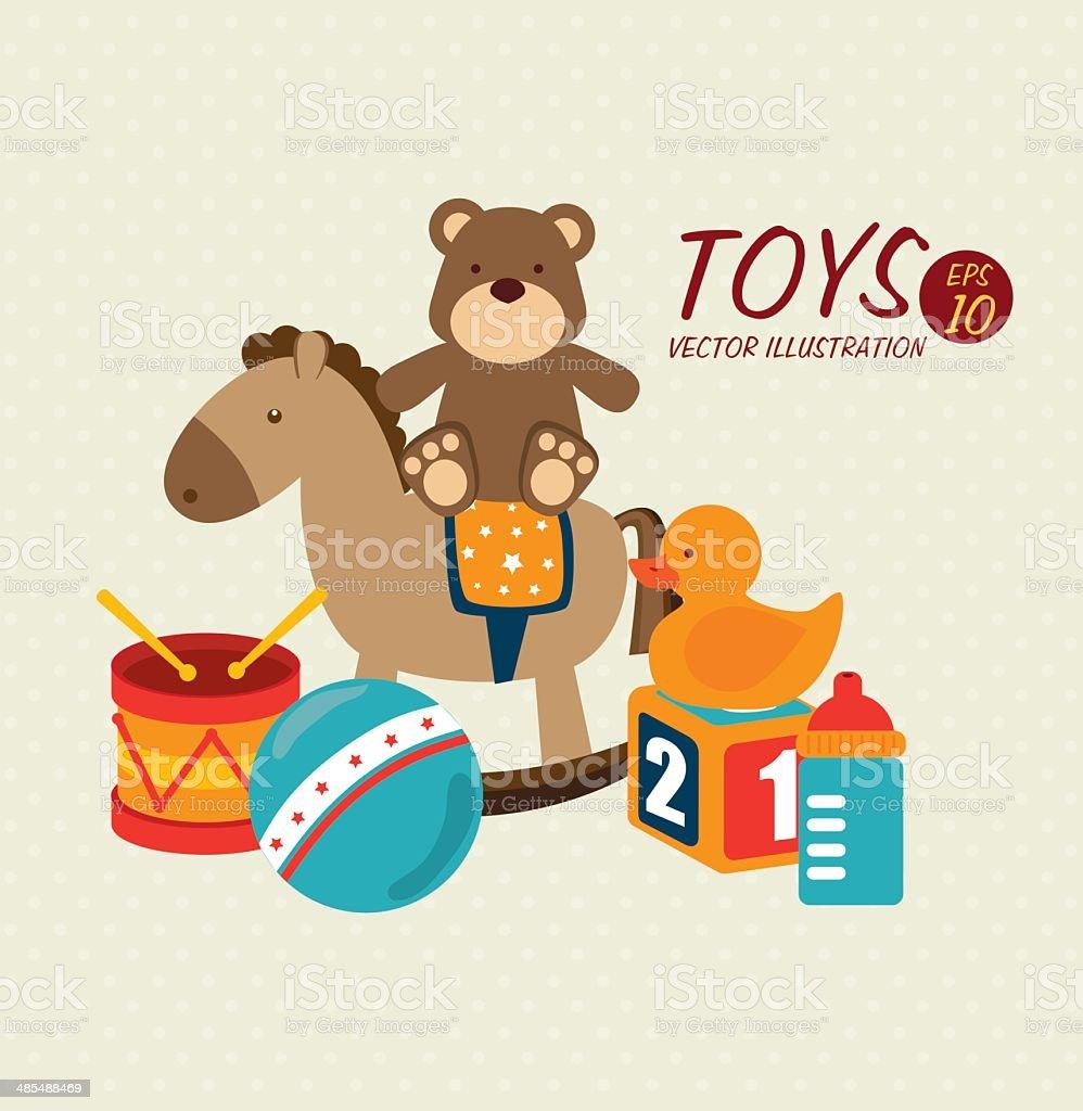 baby toys design vector art illustration