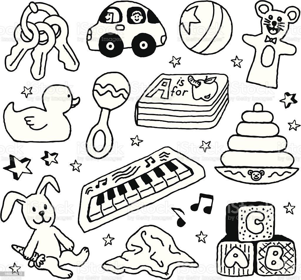 Baby Toys royalty-free stock vector art