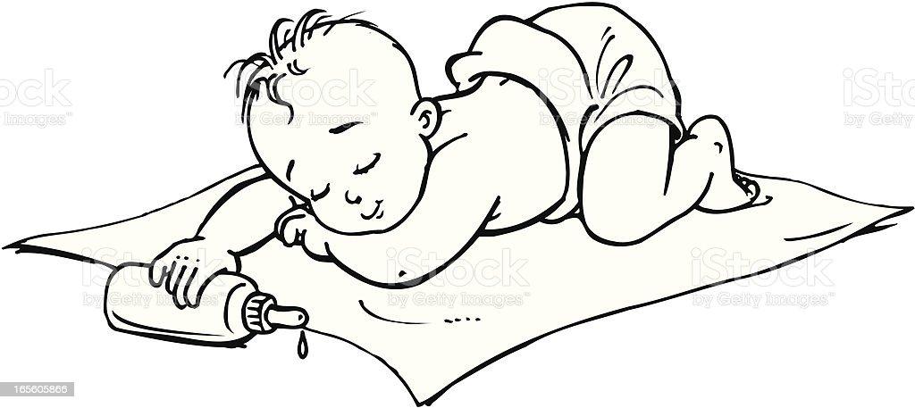 Baby royalty-free stock vector art