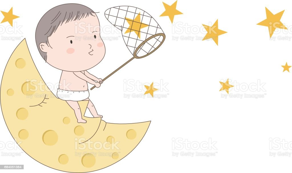 Baby vector art illustration