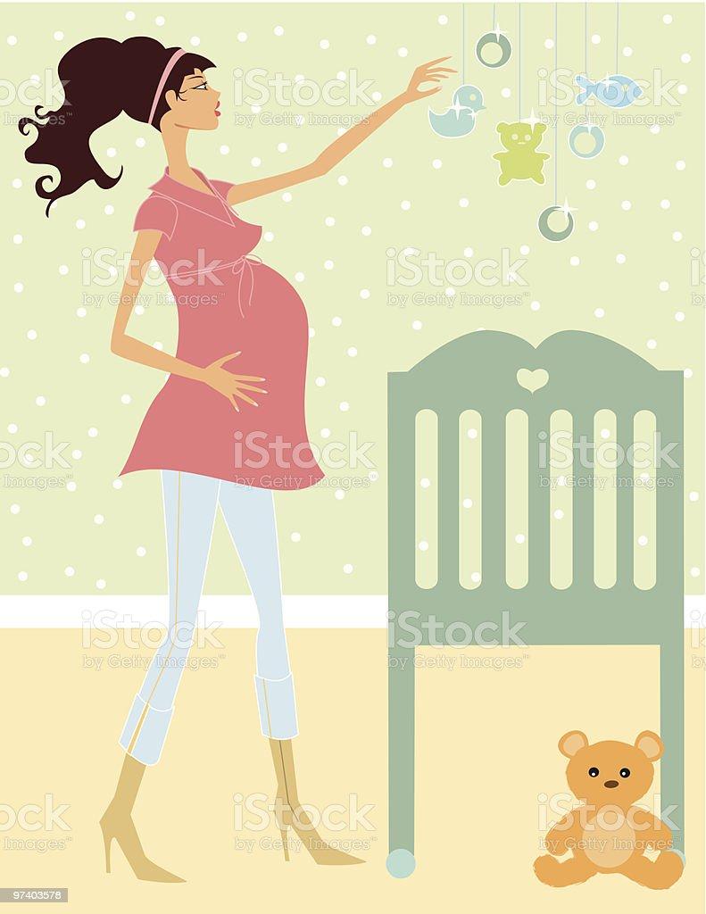 Baby very soon! vector art illustration
