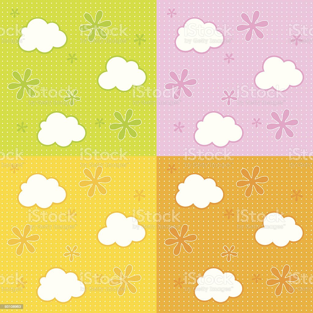 baby wallpaper background royalty-free stock vector art