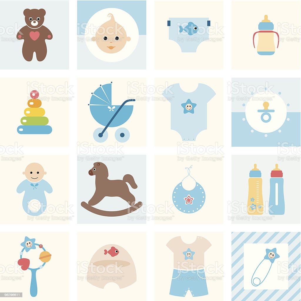 baby_boy_collection vector art illustration