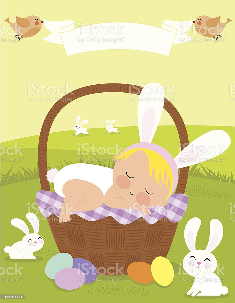 Baby's First Easter vector art illustration