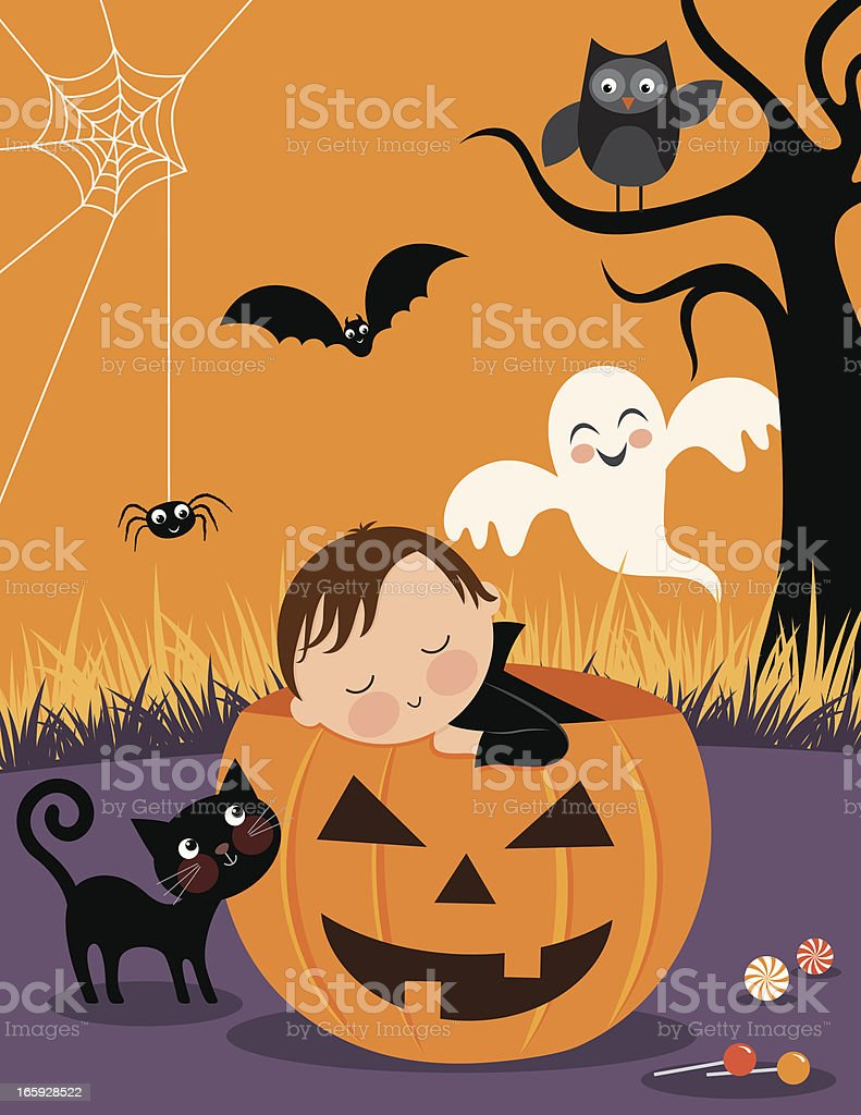 Baby's First Halloween royalty-free stock vector art