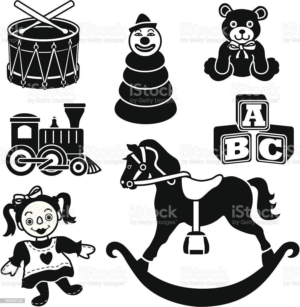 baby's toys vector art illustration