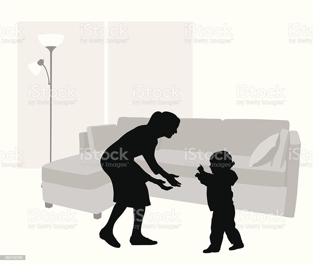 BabySteps Vector Silhouette royalty-free stock vector art
