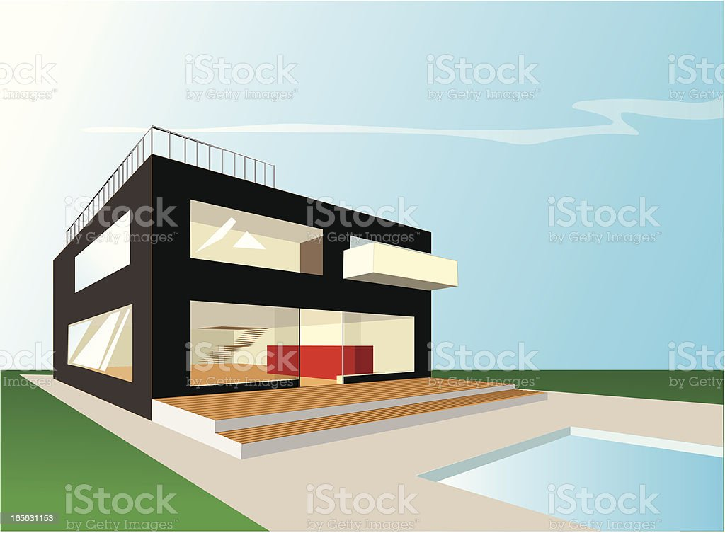 bachelor house royalty-free stock vector art