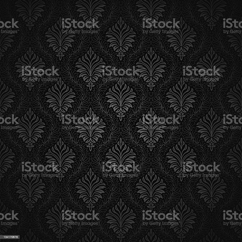Back and white damask pattern on white background royalty-free stock vector art
