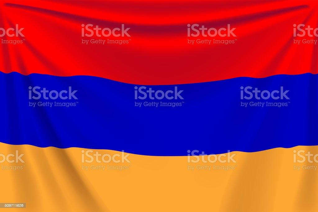 back flag armenia vector art illustration
