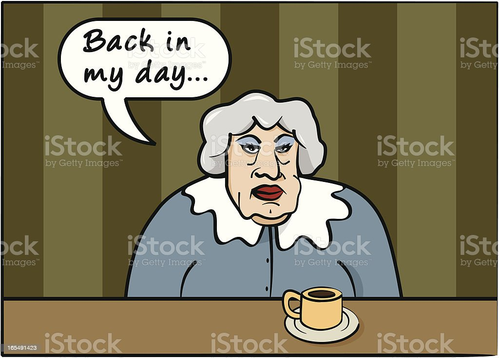 Back In My Day Grandma Says royalty-free stock vector art